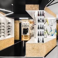 Customized bike display stand and bike accessories rack for bike shop