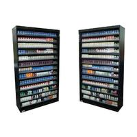 Customized metal cigarette display shelves for sale