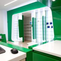 Customized durable medical store furniture for medical shop interior design