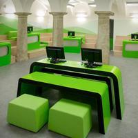 Customized metal reception desk for shop interior design